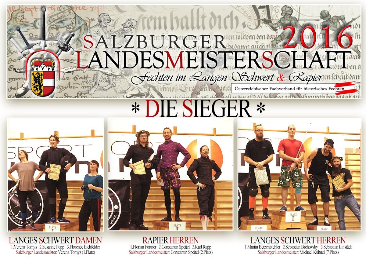 Sieger Salzburger Landesmeisterschaft 2016