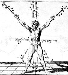 Hiebrichtungen nach Fabris (1606)