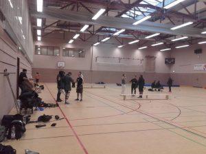 Der Kampfplatz: Die Sporthalle des ETSV 09 in Landshut.