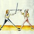 Fechter mit Langen Messern aus dem Fechtbuch Lecküchner