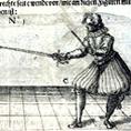 Abbildung eines Rapierfechters