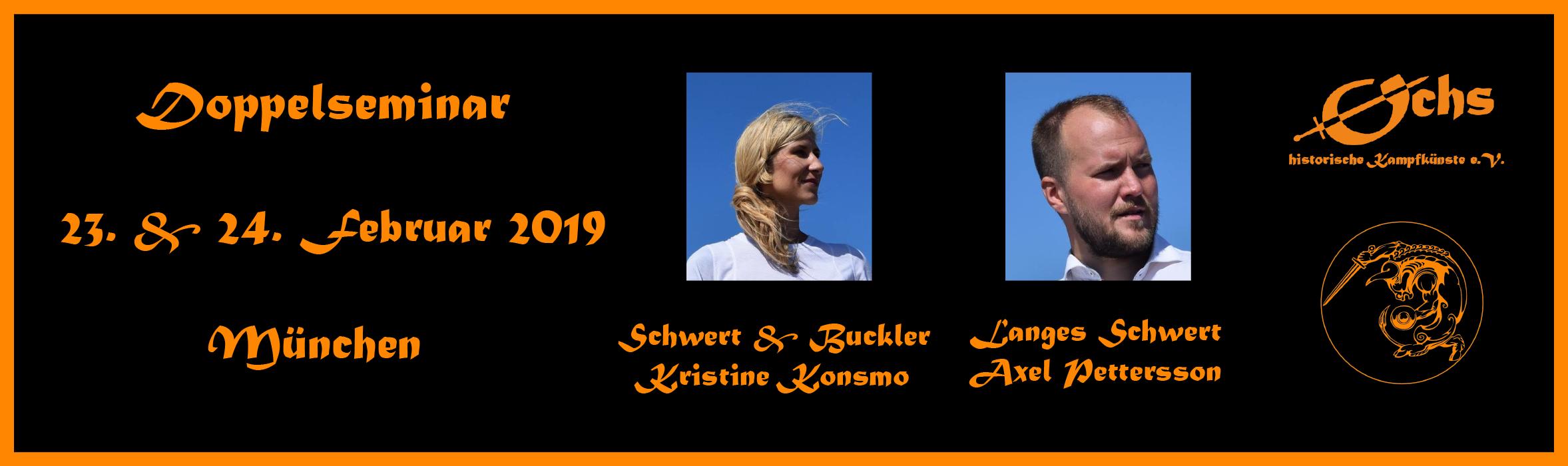 Doppelseminar Kristine Konsmo und Axel Pettersson