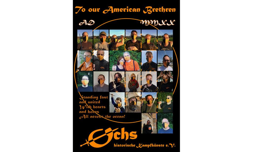 Banner mit Grüßen an Ochs America